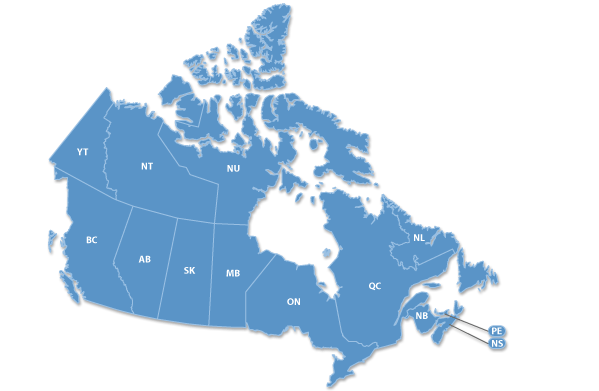 Resource Locator Canada Map
